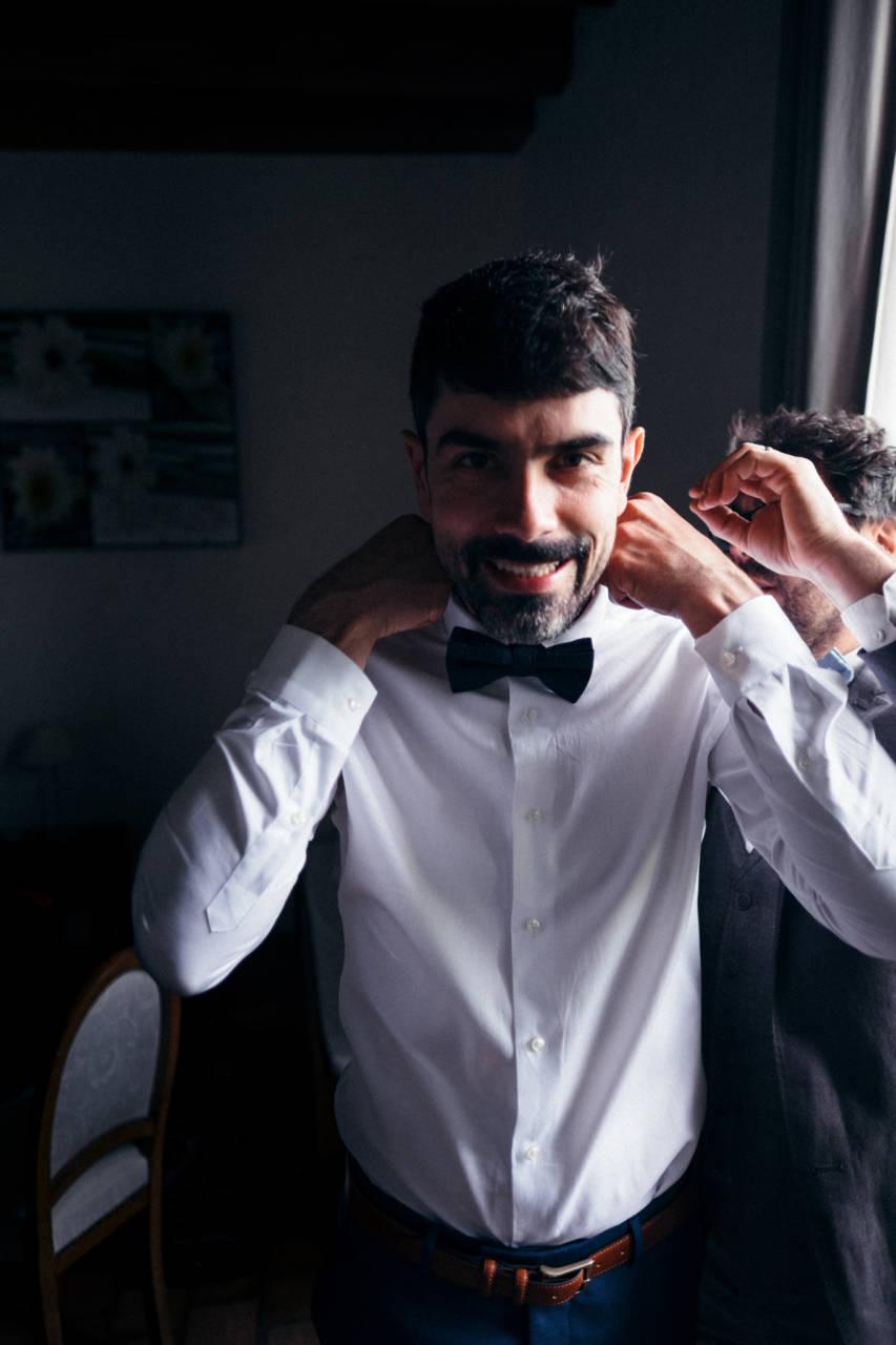 Reportage mariage : préparation Marié